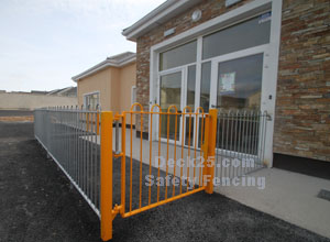 yellow safety fencing
