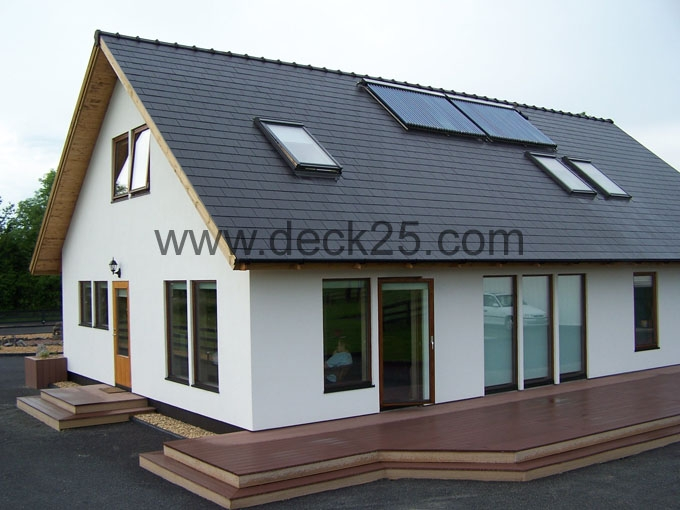 eco composite decking brown