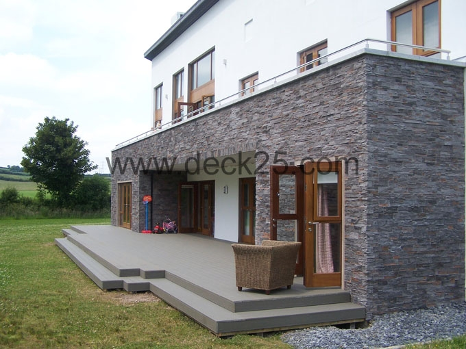 contemporary decking grey