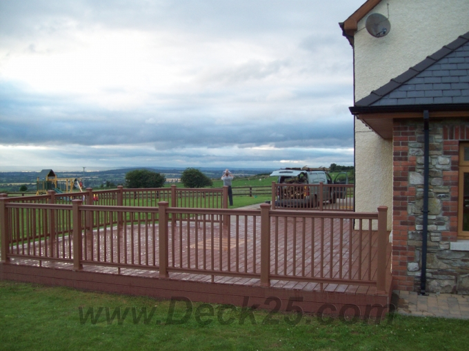 brown composite decking ireland