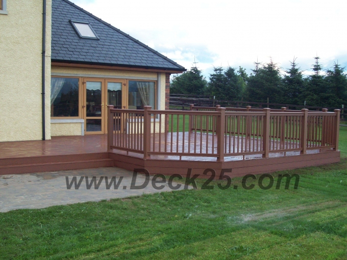 plastic decking brown surrounding house ireland
